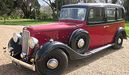 Austin Imperial Limousine available for hire as a wedding car