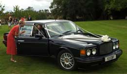 R type Bentley available for hire as a wedding car