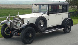 1928 Rolls Royce Landaulette available for hire as a wedding car