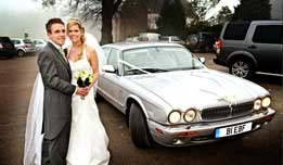 Stretched Daimler available for hire as a wedding car