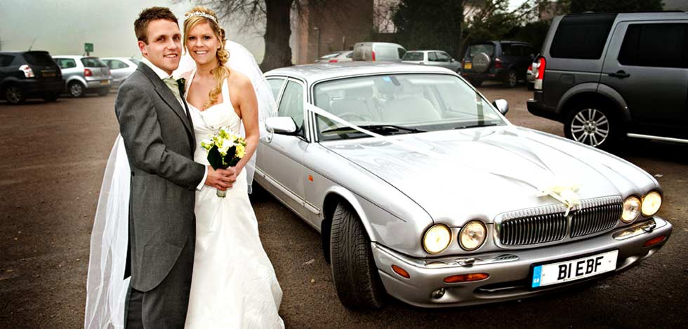 Stretched Daimler for hire as a wedding car